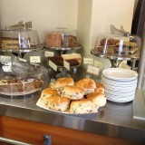 Selection of tray bakes and scones